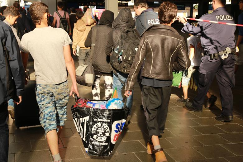 Ankunft Geflüchteter am 13. September 2015 in München. Foto: JouWatch