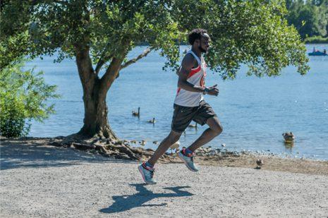 Abdelmajeed beim Training. Foto: Maan Mouslli