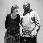 Katja Huber und Moses Okile Ebokorait