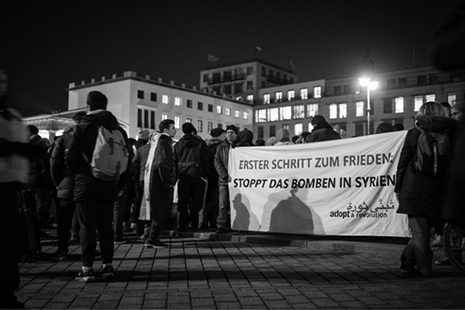 Protest in Berlin, 2016. Foto: Jan-Niklas Kniewel