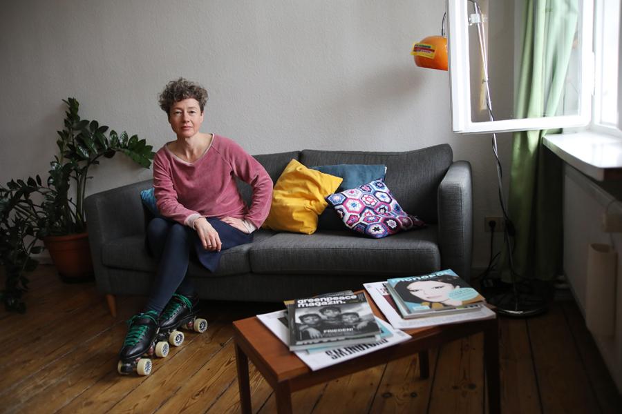 Maritta Iseler Kunsthistorikerin und Bildredakteurin für WIR MACHEN DAS. Foto: Juliette Moarbes (2019)