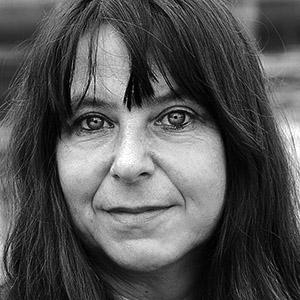Annett Gröschner, Autorin, fotografiert in Magdeburg, August 2015, von Susanne Schleyer