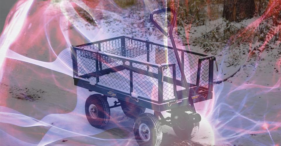 Bild von einem Leiterwagen. Foto (m): Ps Guo und Ramon Salinero / unsplash