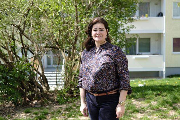 Portrait von Rasha Selo für Meet your Neighbours. Foto: Friedericke Butter