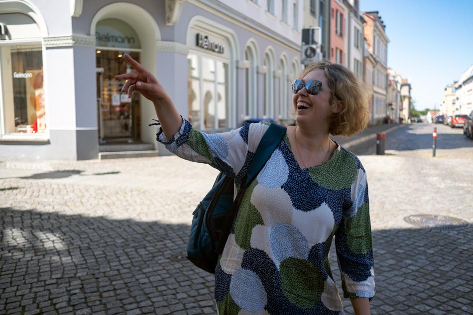 Diana Wucherer auf der Straße. Foto: Ceren Saner